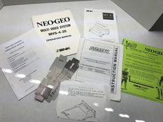 Neo Geo Neo-geo Snk Arcade Manual Operation Info Maintenance Misc. Used