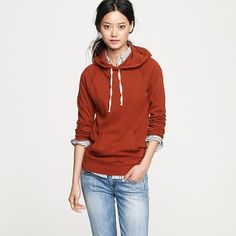 I've never been much for a pullover sweatshirt. But, this might be better than my - rapidly ill-fitting college ones... $49.50 @jcrew gorgeous color too.
