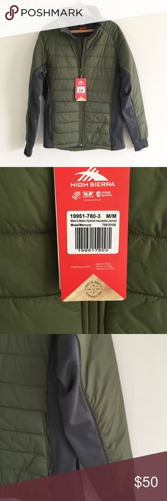 NWT high Sierra insulated jacket High Sierra New with tags Men's molo hybrid insulated jacket in moss/mercury.  Size medium Light but very warm. Perfect condition. high sierra Jackets & Coats