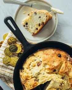 It might not be green, but this Irish Soda Bread is delicious ☘️ Raisin Recipes, Bread Recipes, Irish Soda Bread Recipe, Sallys Baking Addiction, Green, Bakery Recipes