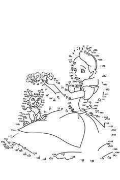 Alice in Wonderland Dot to dot