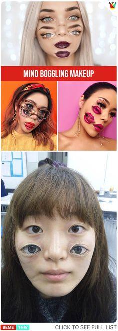 Mind Boggling Double Vision Makeup Looks Scary Illusions, Optical Illusions, Double Vision, Boggle, Makeup Art, Best Makeup Products, Amazing Art, Makeup Looks, Halloween Face Makeup