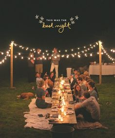 Cozy & probably a bit more casual than even a traditional casual reception. Definitely reminds of summer picnic's.