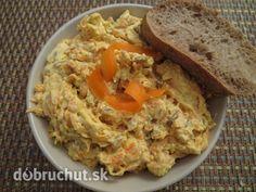 Fotorecept: Mrkvovo-tofu nátierka s cesnakom, fotogaléria 1 / Seitan, Tofu, Lasagna, Pesto, Mashed Potatoes, Food And Drink, Veggies, Meals, Chicken