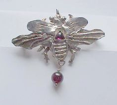 Insect Jewelry UNICORN BEETLE PIN Sterling by elegantinsects, $135.00