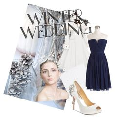 """Winter Wedding"" by xxmrs-wolfxx on Polyvore featuring Chanel, J.Crew and Badgley Mischka"
