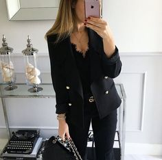 Find images and videos about fashion, black and outfit on We Heart It - the app to get lost in what you love. Business Casual Outfits, Office Outfits, Business Fashion, Classy Outfits, Chic Outfits, Fashion Outfits, Office Wardrobe, Summer Business Attire, Capsule Wardrobe