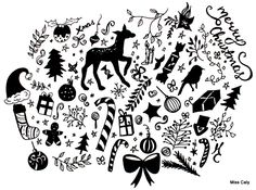 Christmas Doodling: My Evening Therapy