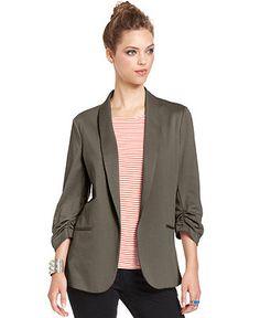Bar III Jacket, Three-Quarter Boyfriend Blazer - Jackets & Blazers - Women - Macy's