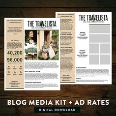 I like to simple design of this media kit Media Kit Template, Business Magazine, Press Kit, Photography Business, Blog Tips, Tricks, How To Start A Blog, About Me Blog, Social Media