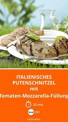 Italienisches Putenschnitzel - mit Tomaten-Mozzarella-Füllung - smarter - Kalorien: 331 kcal - Zeit: 25 Min. | eatsmarter.de