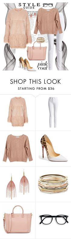 """Pink love white"" by liubet80 ❤ liked on Polyvore featuring Shrimps, Barbour International, Ryan Roche, Christian Louboutin, Serefina and Kendra Scott"