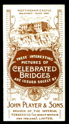 Cigarette Card Back - Player's 1903 | Flickr - Photo Sharing!