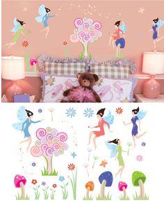 Art Applique Fairies Wall Sticker - Wall Sticker Outlet