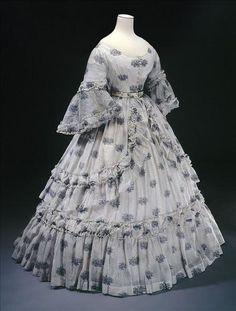 1864 sheer hoop gown.