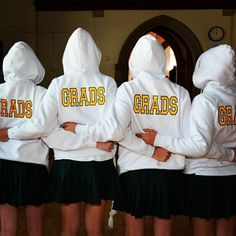 Students from the Class of 2014 receive their coveted grad hoodies, which can be worn as part of their school uniform for the rest of the year.