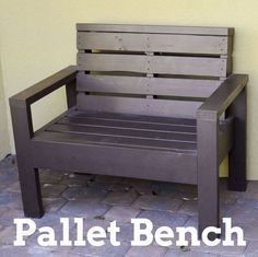 Love ! DIY New Any Color Summer -Cheaters Version Beyond Easy Pallet Bench !