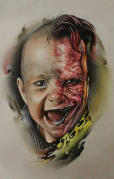 Baby Two-Face, art by Sergey Shanko