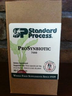 ProSynbiotic ------> Standard Process ProSynbiotic 90 Capsules by Standard Process. $34.96. ProSynbiotic is a synergistic blend of 4 research-supported probiotic strains and 2 prebiotic fibers to support gut flora and overall intestinal health.      * Contains research supported strains of lactic acid bacteria (Lactobacillus and Bifidobacteria), and Saccharomyces cerevisiae var. boulardii     * Contains inulin, a non-digestible, soluble fiber from chicory root an...