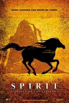 Spirit: Stallion of the Cimarron. I want this silhouette tattooed but with Spirit's basic color pattern (Tan-orange hide with Black mane, snout, tail, and stockings)