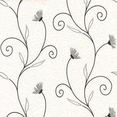 Fine Decor Petula Wallpaper White / Silver / Black