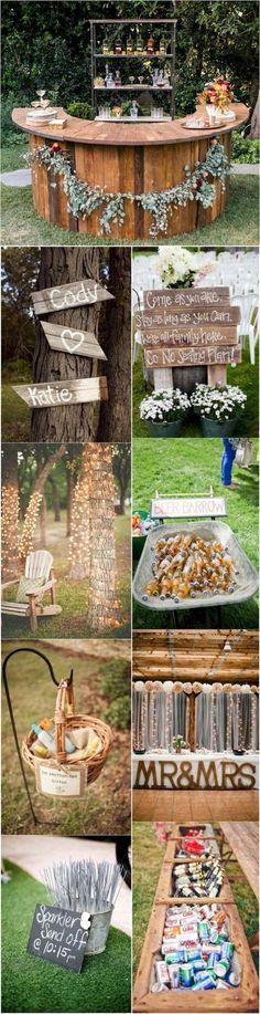 Elegant outdoor wedding decor ideas on a budget (19) #outdoorweddingdecorations #budgetwedding #weddingideas