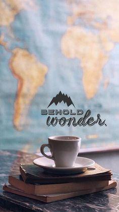 Behold wonder... (Tia) iPhone 6 wallpaper background | #travel #wanderlust #map #tea #coffee