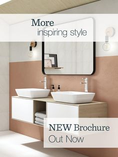 Our new Bathroom brochure is out now. It's home to even more inspiring products, so finding the look you love couldn't be easier.