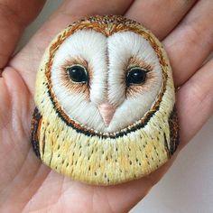 My Owl Barn: Fantastic Embroidered Bird Brooches by Paulina Bartnik