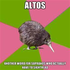 Altos, Choir Kiwi, Music Nerd, Choir Nerd