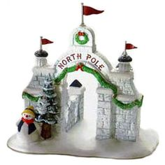 "Department 56: Products - ""North Pole Gate"" - View Accessories"