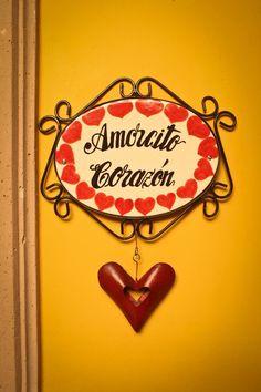 Mexican devotional decor: Amorcito corazon