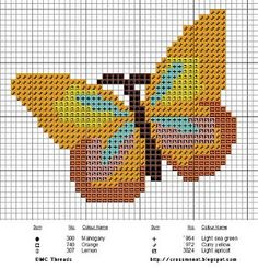 Cross Stitch Butterfly from Cross Me Not