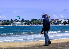 "The coconut man - ""The Coconutman"" of Cabarete, Dominican Republic. Always on the lookout for customers"