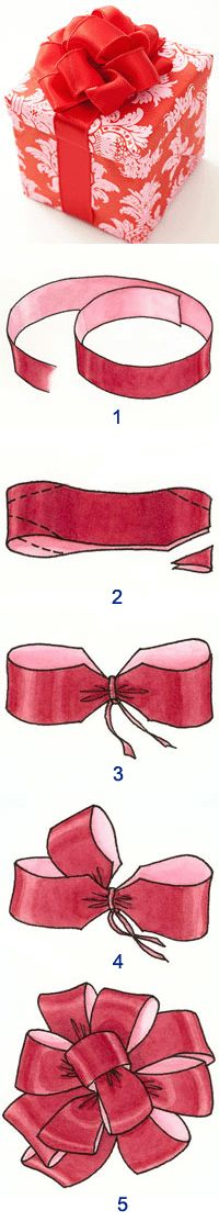 How to use Polypropylene Ribbon to Make a Pom-Pom Bow - This has been going around as spam... But this is a good link with the images and instructions!  ENJOY PINPALS!  #bow #giftwrap #present #holiday