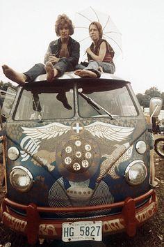 Woodstock VW Bus #lulusrocktheroad