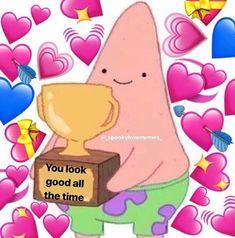 Spongebob Memes, Cartoon Memes, Cat Memes, Freaky Memes, Stupid Funny Memes, Memes Amor, Memes Lindos, Heart Meme, Snapchat Stickers