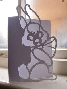 EASTER BUNNY 1 OVER THE EDGE CARD SVG on Craftsuprint designed by Clive Couter - svg version of my gsd over the edge card (with optional backing plate) - Now available for download!