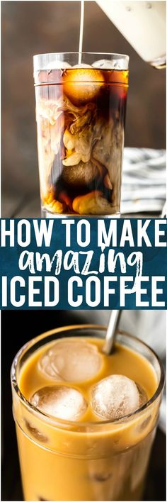 Iced Coffee is so easy to make at home, and even more delicious than you can buy at Starbucks or McDonalds! If you've ever wondered how to make Iced Coffee at home, you've come to the right place. This Iced Coffee is EASY, delicious, perfectly sweet, and so addicting. Having a glass of this Homemade Iced Coffee is the best way to start your day. #coffee #homemade #mcdonalds #starbucks #iced #cream #sugar #breakfast #brunch via @beckygallhardin