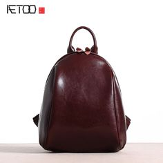 64.41$  Watch here - http://alijp2.shopchina.info/go.php?t=32795417598 - AETOO New original leather backpack female shoulder bag leather Korean version of the simple casual shells shoulder backpack  #buychinaproducts
