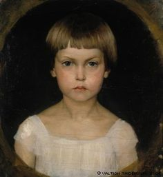 Edelfelt, Albert  Portrait of the Artist´s Sister Berta Edelfelt, 1876