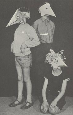 fågelmask