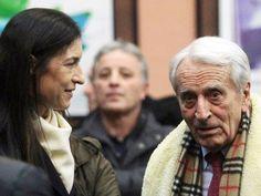 Carlo Vittori e la moglie di Pietro Mennea