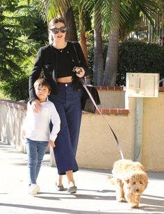 Miranda Kerr & Flynn Stroll With Their Cute Dog   Celeb Baby Laundry