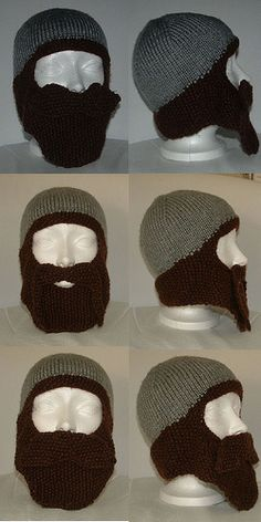 Bearded hat - Mack likes the middle one, with the handlebar mustache