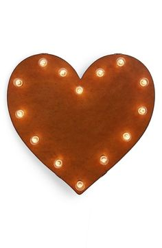 Universal Ironworks 'Marquee Lights - Heart' Recycled Metal Sign available at #Nordstrom