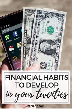 Financial Habits to Develop in Your Twenties | Finances suddenly become more complicated in your 20's when you start dealing with loans, credit cards, and saving. Here are some smart financial habits that will help - Very Erin Blog