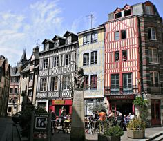 ROUEN, FRANCE. The old town.