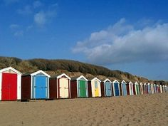 I was always jealous of the owners of these! Best Of British, Devon And Cornwall, Beach Huts, North Devon, Camp Fire, Sandy Beaches, Sands, Getting Out, Jealous