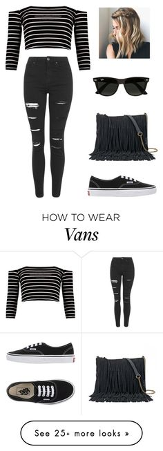 """""""Black Power """" by ines98santos on Polyvore featuring Boohoo, Topshop, Vans, SONOMA Goods for Life and Ray-Ban"""
